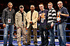 November 9th 2007 - (Left to Right) Wayne Elcock, Jon Thaxton, Junior Witter ., Frankie Gavin, Joe Murray and John Murray at the Ice Arena, Nottingham, England