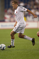 Second half substitute DC United forward Adam Cristman (7) dribbles. The New England Revolution defeated DC United, 1-0, at Gillette Stadium on August 7, 2010.