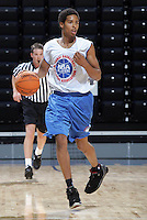 G/F Sylven Landesberg (Flushing, NY / Holy Cross) moves the ball during the NBA Top 100 Camp held Thursday June 21, 2007 at the John Paul Jones arena in Charlottesville, Va. (Photo/Andrew Shurtleff)