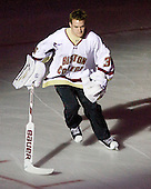 "Parker Milner (BC - 35) - Boston College hosted ""Ice Jam"" with the men's and women's hockey and basketball teams at Conte Forum in Chestnut Hill, Massachusetts, on Tuesday, October 26, 2010."