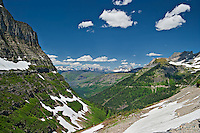 Horizontal image-view of Glacier National Park from Going to the Sun Road