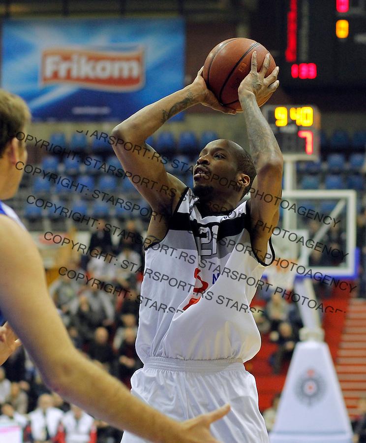 Tarence Kinsey ABA liga, Partizan - MZT Skoplje Januar 26, 2014. in Belgrade, Serbia (credit image & photo: Pedja Milosavljevic / STARSPORT / +318 64 1260 959 / thepedja@gmail.com)