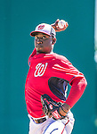 13 March 2014: Washington Nationals pitcher Rafael Soriano on the mound during a Spring Training game against the New York Mets at Space Coast Stadium in Viera, Florida. The Mets defeated the Nationals 7-5 in Grapefruit League play. Mandatory Credit: Ed Wolfstein Photo *** RAW (NEF) Image File Available ***