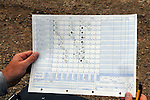 Baseball scorecard Vale vs Nyssa (Vale lineup), game two, April 15, 2011.