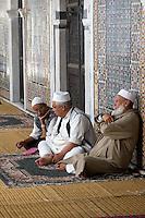 Tripoli, Libya - Old Men Awaiting Prayers, Karamanli Mosque, 18th Century