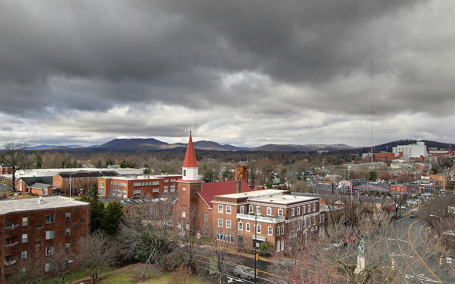 A view of West Main Street from Downtown Charlottesville, VA. Photo/Andrew Shurtleff