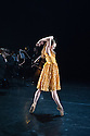 "London, UK. 19.09.2014. Constella Ballet & Orchestra's Triple Bill premieres in the Lilian Baylis Studio, at Sadler's Wells. Nancy Osbaldeston, (winner of ENB's Emerging Dancer Competition 2013) dances to Copland's iconic work ""Appalachian Spring"", in a solo choreographed for her by English National Ballet's Associate Artist George Willamson.  Photograph © Jane Hobson."