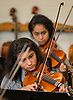 Orchestra students practice at Johnston Middle School, October 1, 2014.