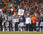 Auburn sends in signals at Jordan-Hare Stadium in Auburn, Ala. on Saturday, October 29, 2011.