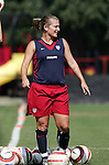 Tiffeny Milbrett, who will turn 33 years on Sunday, on Saturday, October 22nd, 2005 at Blackbaud Stadium in Charleston, South Carolina. The United States Women's National Team went through a light practice the day before a game against Mexico.