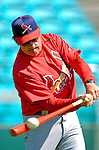 8 March 2006: Tony LaRussa, Manager of the St. Louis Cardinals, hits some infield grounders during batting practice prior to a Spring Training game against the Washington Nationals. The Cardinals defeated the Nationals 7-4 in 10 innings at Space Coast Stadium, in Viera, Florida...Mandatory Photo Credit: Ed Wolfstein.