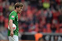 FUSSBALL   1. BUNDESLIGA   SAISON 2012/2013    31. SPIELTAG Bayer 04 Leverkusen - SV Werder Bremen                  27.04.2013 Clemens Fritz (SV Werder Bremen) ist nach dem Abpfiff enttaeuscht