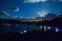 Moonrise over Maho Bay<br />