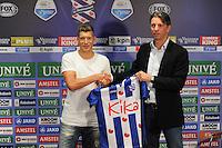 SC HEERENVEEN: 25-07-2016, nieuwe speler Stijn Schaars en technisch manager Gerry Hamstra, ©foto Martin de Jong