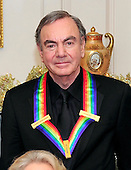 Neil Diamond, one of the recipients of the 2011 Kennedy Center Honors, poses for a photo following a dinner hosted by United States Secretary of State Hillary Rodham Clinton at the U.S. Department of State in Washington, D.C. on Saturday, December 3, 2011. The 2011 honorees are actress Meryl Streep, singer Neil Diamond, actress Barbara Cook, musician Yo-Yo Ma, and musician Sonny Rollins..Credit: Ron Sachs / CNP