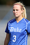 09 September 2011: Duke's Libby Jandl. The Duke University Blue Devils defeated the Texas A&M Aggies 7-2 at Koskinen Stadium in Durham, North Carolina in an NCAA Division I Women's Soccer game.