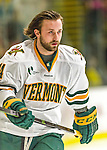 29 December 2014: University of Vermont Catamount Forward Kevin Irwin, a Freshman from Akron, Ohio, prepares to face the Providence College Friars in the deciding game of the annual TD Bank-Sheraton Catamount Cup Tournament at Gutterson Fieldhouse in Burlington, Vermont. The Friars shut out the Catamounts 3-0 to win the 2014 Cup. Mandatory Credit: Ed Wolfstein Photo *** RAW (NEF) Image File Available ***