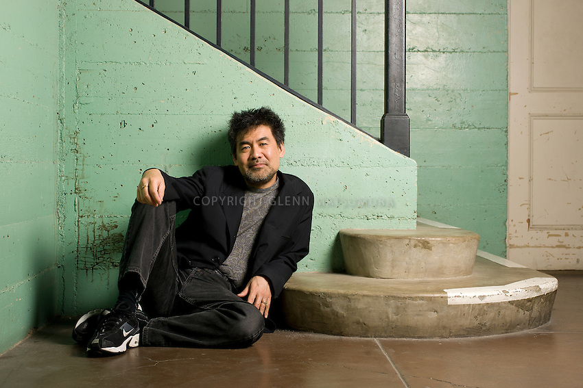 David Henry Hwang at Stanford's Roble Gym.