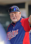 29 September 2012: Minnesota Twins Manager Ron Gardenhire stands in the dugout prior to a game against the Detroit Tigers at Target Field in Minneapolis, MN. The Tigers defeated the Twins 6-4 in the second game of their 3-game series. Mandatory Credit: Ed Wolfstein Photo