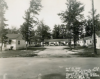 1945 October 19..Assisted Housing..Liberty Park (6-17)..Court on North Side of Schooley Street #3040, 3042, 3048, 3050, 3052...NEG#.NRHA# 624-A..