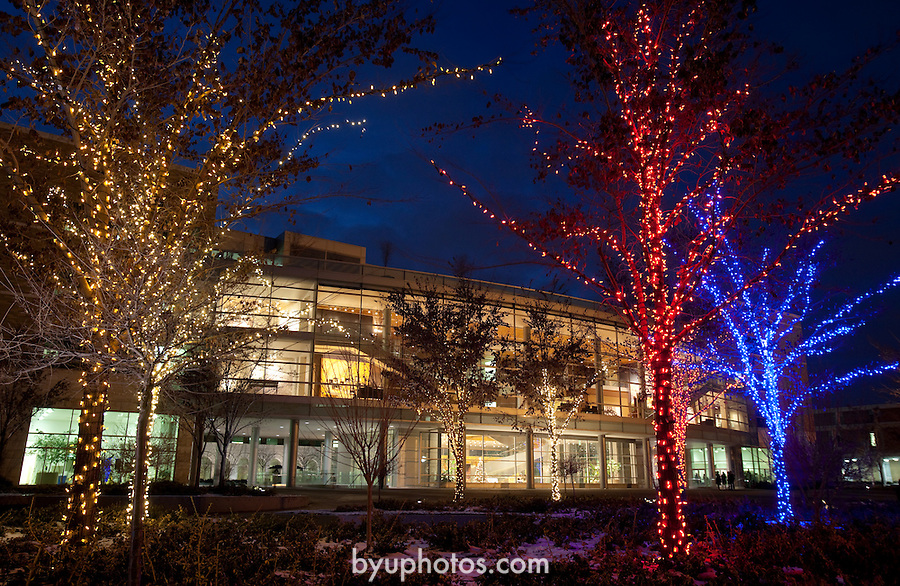 1012-04 JFSB Christmas Lights (Joseph Fielding Smith Building)<br /> <br /> December 1, 2010<br /> <br /> Photo by Kenny Crookston/BYU<br /> <br /> &copy; BYU PHOTO 2010<br /> All Rights Reserved<br /> photo@byu.edu  (801)422-7322