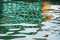 Abstract Water and reflection Ha Long Bay, North Vietnam
