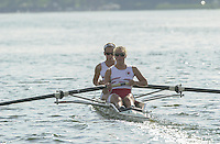 Nottingham, ENGLAND.  <br />  <br />   <br /> Commonwealth Regatta - Nottingham<br /> 20020818<br /> GBR LW2- Stephanie Temperton and Emma Thorpe