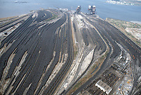 1989 March 29..Conservation.Lamberts Point..Aerial View Coal Piers...NEG#.NRHA#..