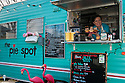 The Pie Spot food cart at the D-Street Nosh Pod in southeast Portland, Oregon.