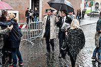 Roma 5 Novembre 2012.Il funerale di Pino Rauti fuori dalla basilica di San Marco a Piazza Venezia.Mario Landolfi ,PdL.The funeral of Pino Rauti out from the Basilica of San Marco in Venice Piazza