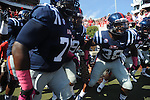Ole Miss defensive end Jason Jones (38) takes the field vs. Auburn at Vaught-Hemingway Stadium in Oxford, Miss. on Saturday, October 13, 2012. ..