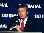 Donald J. Trump makes remarks and answers questions on his new Atlantic City Hotel, the Trump Taj Mahal, at a press conference in Washington, DC on March 1, 1989.<br />