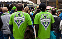 WA09510-00...WASHINGTON - Seattle Sounders FC (soccer) fans.