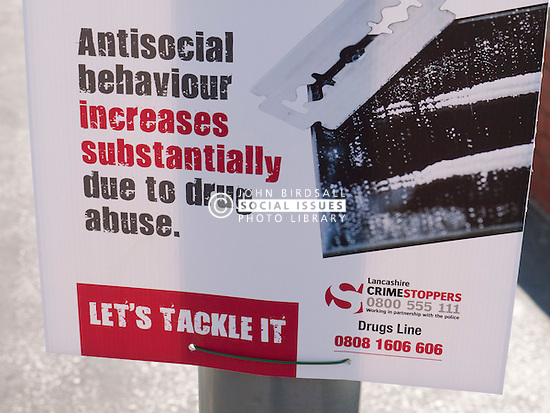 Crimestoppers notice about drugs and antisocial behaviour