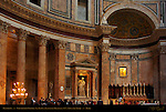 Crucifixion Chapel St Rasius Francesco Moderati 1727 Apse and Altar Pantheon Campus Martius Rome