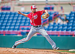 29 February 2016: Washington Nationals pitcher Blake Treinen on the mound during an inter-squad pre-season Spring Training game at Space Coast Stadium in Viera, Florida. Mandatory Credit: Ed Wolfstein Photo *** RAW (NEF) Image File Available ***