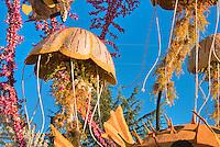 Flower covered floats used in 2010  Rose Parade, Tournament of Roses, Pasadena; CA Underwater scene, Jellyfish, Puffer Fish, Clown Fish, High dynamic range imaging (HDRI or HDR)
