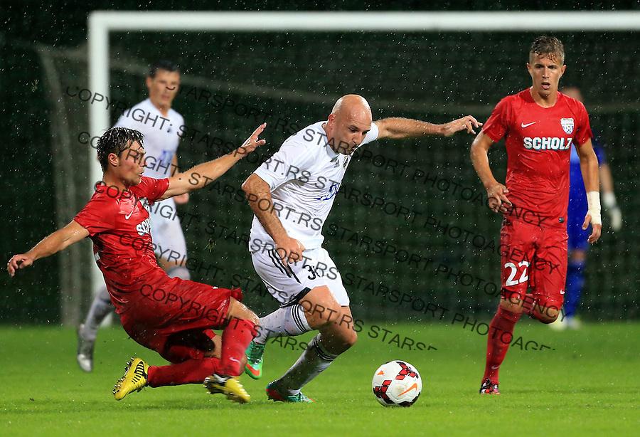Fudbal Football Soccer<br /> UEFA Europa league-Second qualifying round, First leg<br /> Cukaricki v Grodig Austria<br /> Nenad Mirosavljevic (C)<br /> Beograd, 07.17.2014.<br /> foto: Srdjan Stevanovic/Starsportphoto &copy;