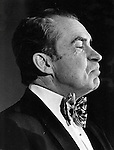 President Richard M. Nixon with bow tie on Saint Patrick's Day, Fine Art Photography by Ron Bennett, Fine Art, Fine Art photography, Art Photography, Copyright RonBennettPhotography.com ©