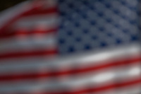 soft focus abstract design American USA flag.