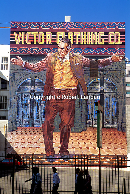 Victor Clothing Mural phoptogrtaphed in July 1993