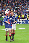 Paul Gascoigne and Richard Gough after the 1996 Scottish Cup Final at Hampden