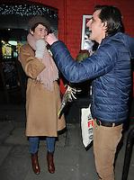 "JAN 17 Gemma Arterton departs after ""Saint Joan"" performance"