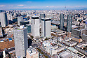 Aerial View of Toyosu district taken on February 9th, 2012. Toyosu is known as a business district in the central Tokyo, Japan. (Photo by Masanori Yamanashi/AFLO)
