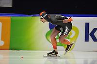 SCHAATSEN: HEERENVEEN; 11-10-2014, IJstadion Thialf, KNSB Trainingswedstrijd, Erik-Jan Kooiman, ©foto Martin de Jong