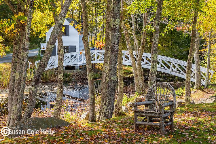 The Moon Bridge in Somesville, Maine, USA