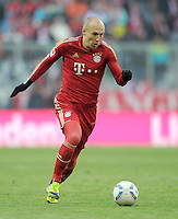 FUSSBALL   1. BUNDESLIGA  SAISON 2011/2012   21. Spieltag FC Bayern Muenchen - 1. FC Kaiserslautern       11.02.2012 Arjen Robben (FC Bayern Muenchen)