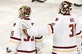 Ryan Edquist (BC - 35), Joe Woll (BC - 31) - The Boston College Eagles defeated the visiting Providence College Friars 3-1 on Friday, October 28, 2016, at Kelley Rink in Conte Forum in Chestnut Hill, Massachusetts.The Boston College Eagles defeated the visiting Providence College Friars 3-1 on Friday, October 28, 2016, at Kelley Rink in Conte Forum in Chestnut Hill, Massachusetts.