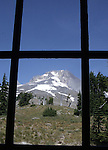 "Mount Hood through window at Timberline Lodge Oregon, Mt. Hood window Oregon, window, Pacific Ocean, Plains, woods, mountains, rain forest, desert, rain, Pacific Northwest, Fine art Photography and Stock Photography by Ronald T. Bennett Photography ©, FINE ART and STOCK PHOTOGRAPHY FOR SALE, CLICK ON  ""ADD TO CART"" FOR PRICING,"