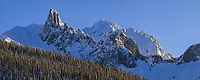 Winter panorama landscape of Mt Snowden in the Brooks range, Alaska